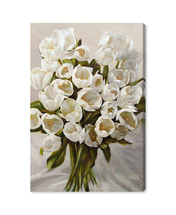 "Oliver Gal SAI - Elegant Tulips Canvas Art, 24"" x 36"""