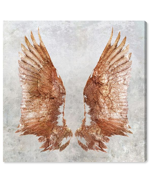 """Oliver Gal Rose Gold Wings Canvas Art, 12"""" x 12"""""""