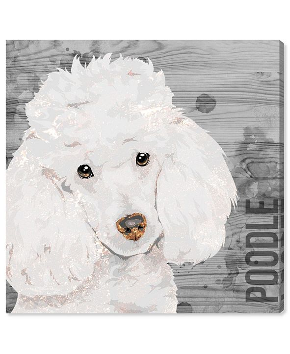 "Oliver Gal Love My Poodle Canvas Art, 16"" x 16"""