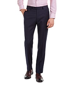 Men's Modern-Fit THFlex Stretch Navy Pinstripe Suit Pants