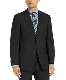Men's Modern-Fit Charcoal THFlex Suit Jacket