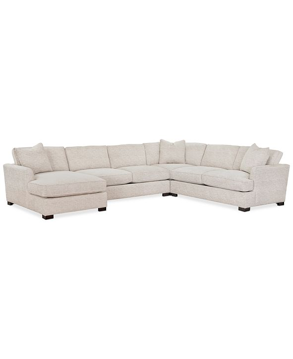 Furniture Juliam 4-Pc. Fabric Chaise Sectional Sofa, Created for Macy's