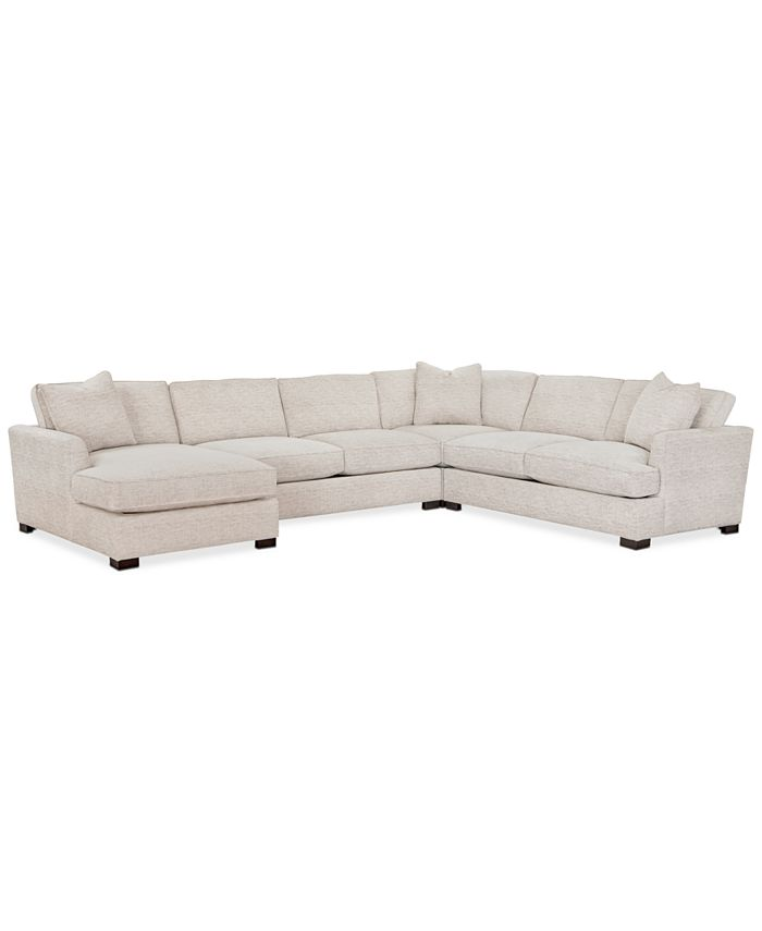 Furniture - Juliam 4-Pc. Fabric Chaise Sectional Sofa