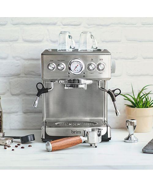 Brim 19 Bar Espresso Maker with Wood Finish Handle