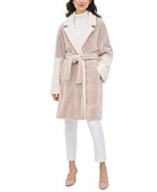 Belted Faux-Fur Jacket