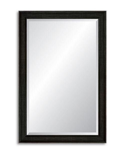Reveal Frame & Decor Reveal Modern Darkened Pewter Beveled Wall Mirror