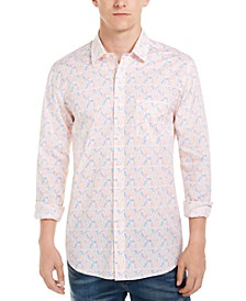 Men's Tennis Player Print Shirt, Created For Macy's