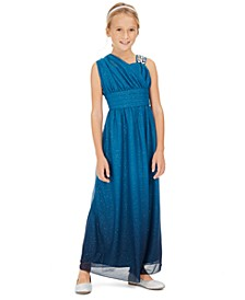 Big Girls One-Shoulder Ombré Dress