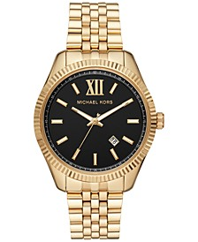 Men's Lexington Gold-Tone Stainless Steel Bracelet Watch 42mm