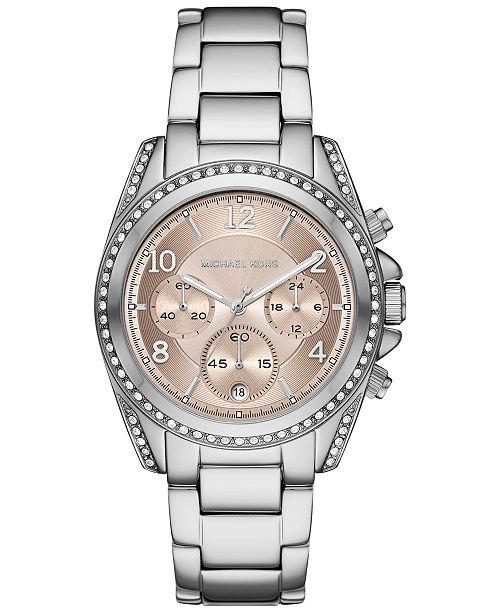 Michael Kors Women's Chronograph Blair Stainless Steel Bracelet Watch 39mm