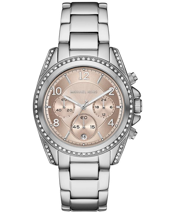 Michael Kors Women's Chronograph Blair Stainless Steel Bracelet Watch 39mm