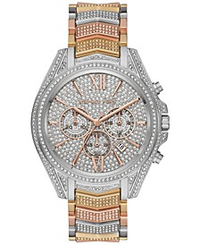 Women's Chronograph Whitney Tri-Tone Pavé Stainless Steel Bracelet Watch 44mm