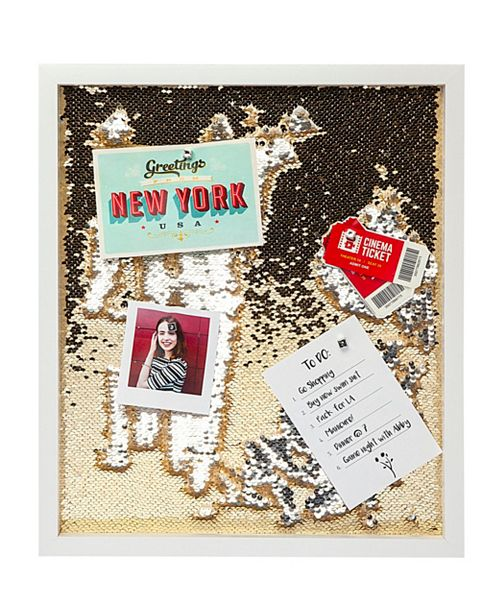 Philip Whitney Champagne/Silver Sequin Cork Board