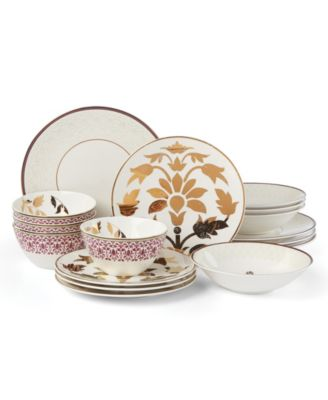 Global Tapestry Garnet 16-PC Dinnerware Set