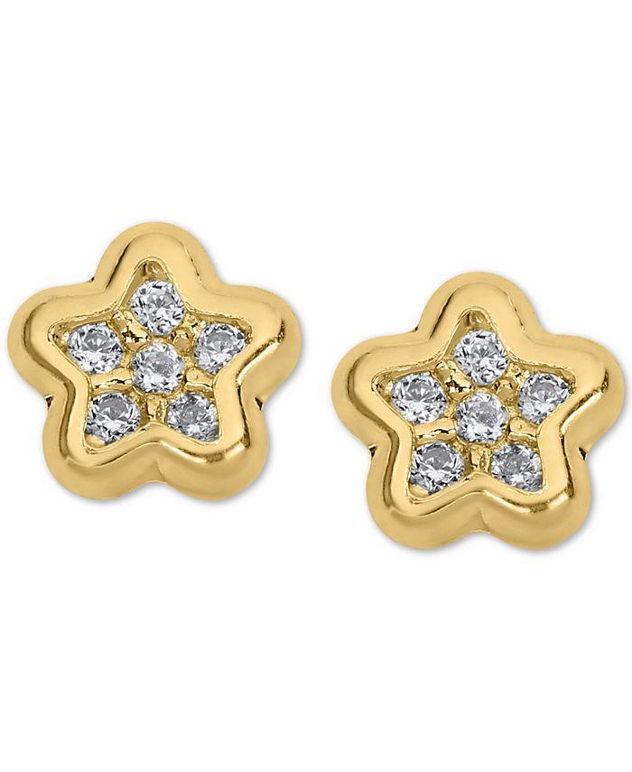 Macy's - Child's Cubic Zirconia Star Stud Earrings in 14k Gold