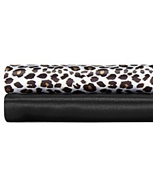 Betseys Leopard Satin Queen Sheet Set