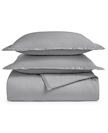 Cotton 550-Thread Count 3-Pc. Full/Queen Duvet Cover Set, Created For Macy's