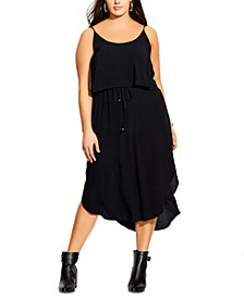Trendy Plus Size Layered Midi Dress