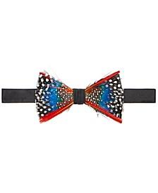 Men's Feather Pre-Tied Bow Tie