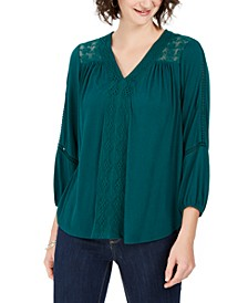 Lace-Back Crochet Top, Created For Macy's