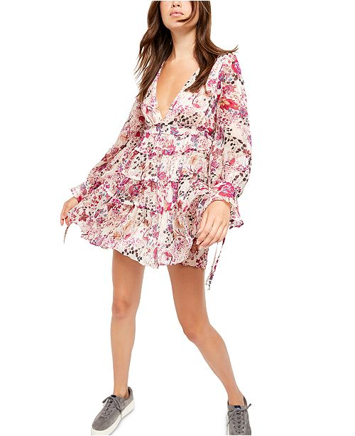 Free People Closer To The Heart Mini Dress