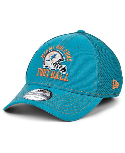 New Era Miami Dolphins Vintage Helmet Neo 39THIRTY Cap