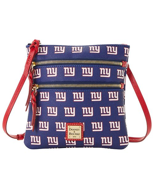 Dooney & Bourke New York Giants Saffiano Triple Zip Crossbody