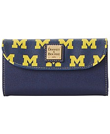 Michigan Wolverines Saffiano Continental Clutch