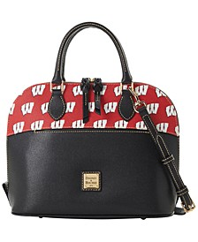 Wisconsin Badgers Saffiano Zip Satchel