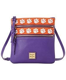 Clemson Tigers Saffiano Triple Zip Crossbody