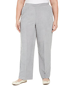 Alfred Dunner Plus Size Lake Geneva Proportioned Corduroy Pants