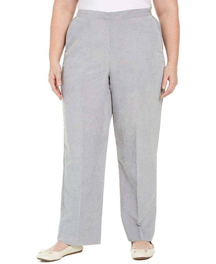 Alfred Dunner - Plus Size Lake Geneva Proportioned Corduroy Pants