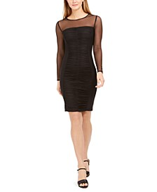Ruched Illusion Bodycon Dress