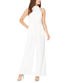 High-Neck Scuba Crepe Jumpsuit