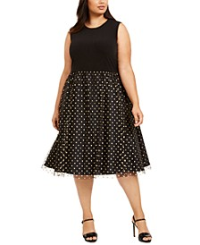 Plus Size Clip-Dot Dress