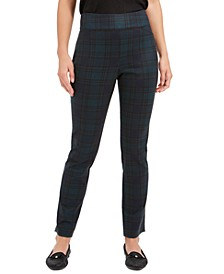 Plaid Pull-On Pants, Created for Macy's