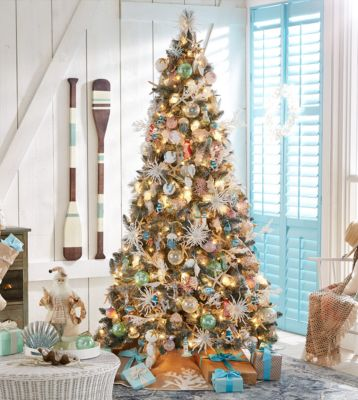 Seaside Set of 8 Shatterproof Teal Snowflake Ornaments, Created for Macy's