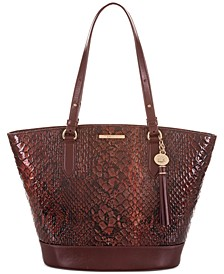 Bowie Valerian Leather Tote