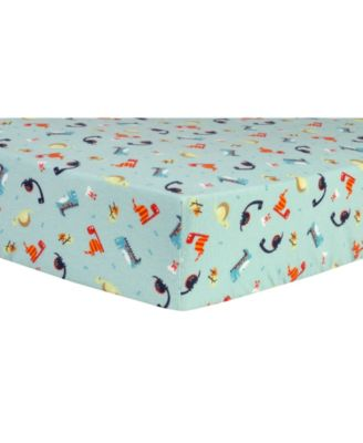 Dinosaurs Flannel Crib Sheet