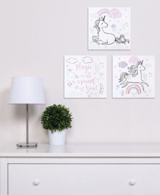 Magical Unicorn Canvas Wall Art 3-Pack