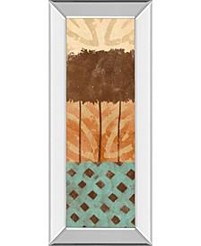 "Tribal Trio II by Alonzo Saunders Mirror Framed Print Wall Art, 18"" x 42"""