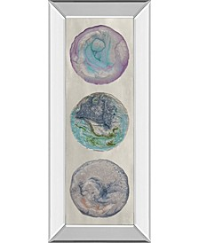 "Planet Trio I by Alicia Ludwig Mirror Framed Print Wall Art, 18"" x 42"""