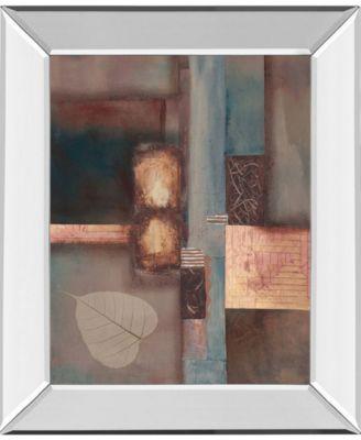 """Fall I W/Leaf by Laurie Fields Mirror Framed Print Wall Art, 22"""" x 26"""""""