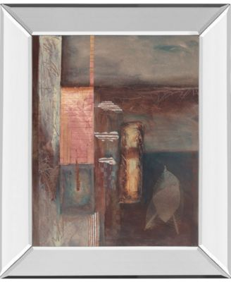 "Fall II W/Leaf by Laurie Fields Mirror Framed Print Wall Art, 22"" x 26"""