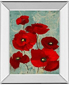 "Kindle Poppies I by Lanie Loreth Mirror Framed Print Wall Art, 22"" x 26"""