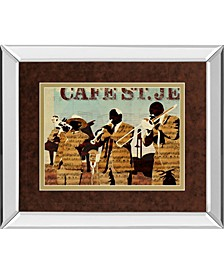 "Café Saint Jean by Kyle Mosher Mirror Framed Print Wall Art, 34"" x 40"""