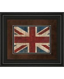 "Union Jack by Avery Tillman Framed Print Wall Art, 34"" x 40"""