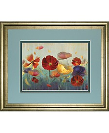 "In My Garden by Sandra Iafrate Framed Print Wall Art, 34"" x 40"""