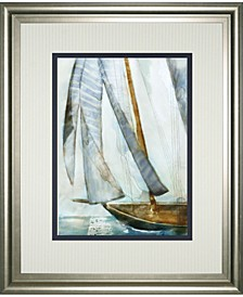 "Sailboat Blues I by Carmen Dolce Framed Print Wall Art, 34"" x 40"""
