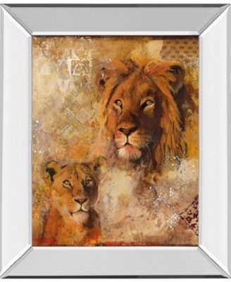 "Wild Kingdom II by Georgie Mirror Framed Print Wall Art, 22"" x 26"""